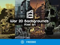 Free War Pixel Art Game Backgrounds
