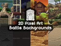 Pixel Art Battle Backgrounds