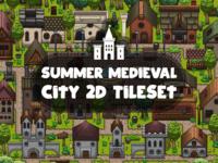 Summer Medieval City Tile set