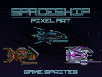 Pixel Art Spaceship 2D Sprites