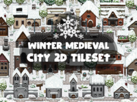 Winter Medieval City Tile Set