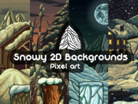 Snowy 2D Pixel Art Backgrounds