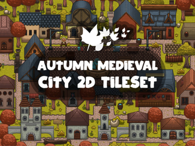 Autumn Medieval City Tile set
