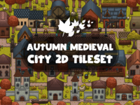 Autumn Medieval City Tile set