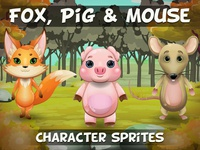 Fox Pig And Mouse Game Sprites