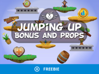 Free Jumping UP 2D Objects