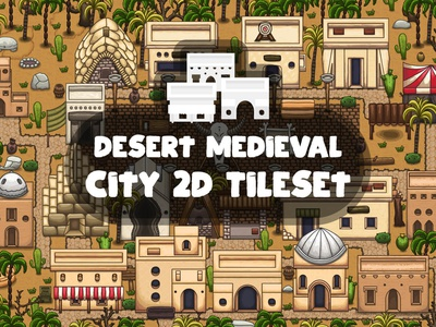 Desert Medieval City Tile Set