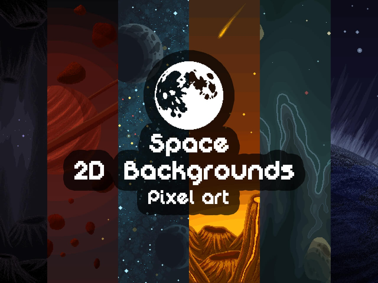 Pixel Art Space 2d Backgrounds by 2D Game Assets on Dribbble