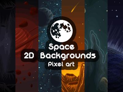 Pixel Art Space 2d Backgrounds