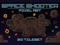 Space Shooter Tileset Pixel Art