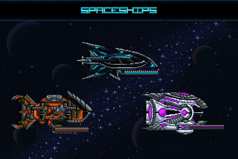 Space shooter creation kit pixel art3