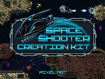Space Shooter Game Kit Pixel Art shooter pixel art space shooter space game assets 2d gamedev