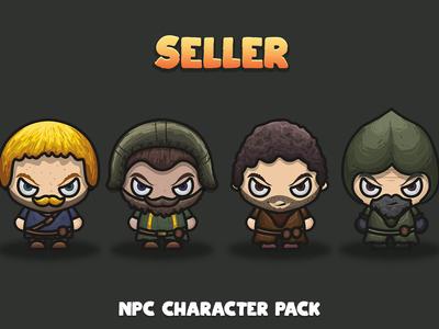 Seller NPC 2D Character