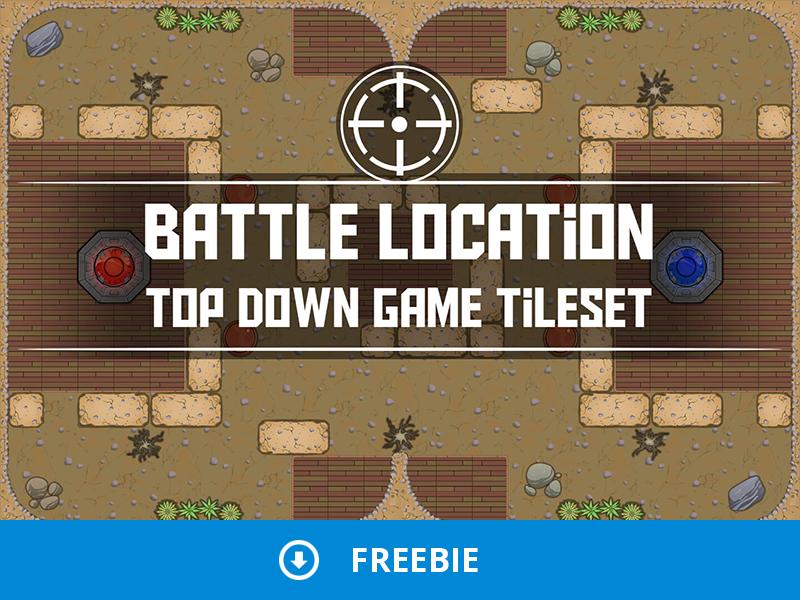 Free Battle Location Top Down 2D Tileset top down freebie free battle game assets 2d gamedev