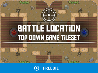 Free Battle Location Top Down 2D Tileset