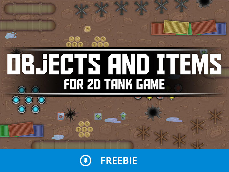 Free Objects and Items for Tank Game tank game 2d game assets game gamedev