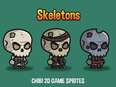 Skeleton 2d Game Sprites