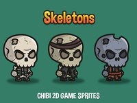 Skeleton 2d Game Sprites