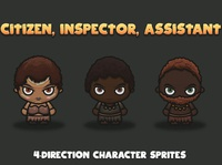 Tropical 4-Direction Characters