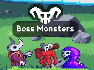 Boss Monsters Pixel Art Game Sprites