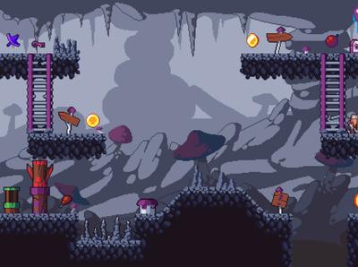 Pixel Art Platformer Cave 2D Tileset