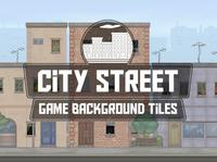 City Street 2D Background Tiles