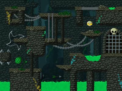 Pixel Art Dungeon Platformer Tileset