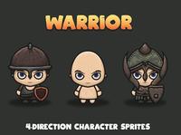 Free Warrior 4-direction 2D Sprites