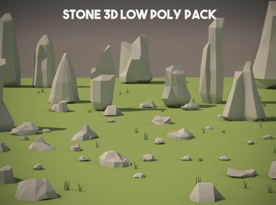 Free Stone 3D Low Poly Pack