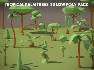 Free Tropical Palm Tree 3D Low Poly Pack