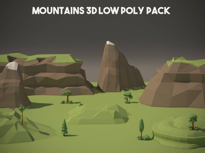 Mountains 3D Low Poly Pack