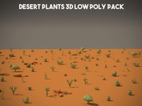 Free Desert Plants 3D Low Poly Pack