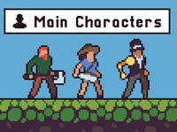 Free 3 Character Sprite Pixel Art