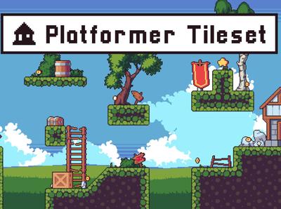 Platformer Tileset Pixel Art