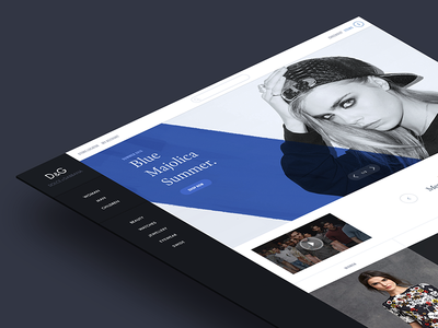 Fashion website concept.