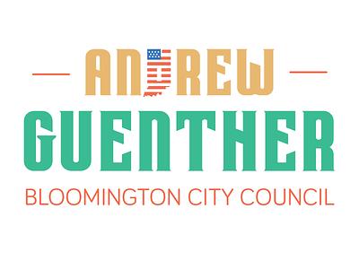 Andrew Guenther Campaign Logo bloomington campaign design politics identity logo design branding logo