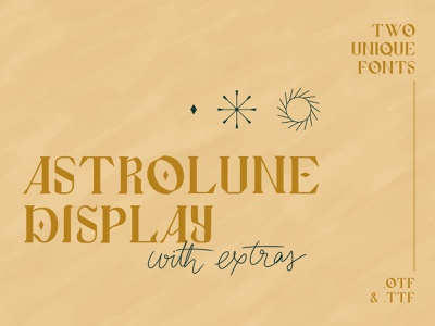 Astrolune Display Fonts fantasy blackletter font design typography magical astrology branding serif font mystical cosmic typeface