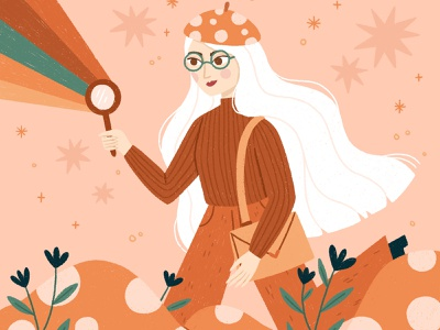 Colourful Explorer cute nature hand-drawn draw this in your style colourful fun magical procreate character illustration
