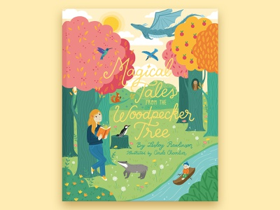 Magical Tales Children's Book Cover tales picture book book cover childrens book fun lettering magical nature illustration