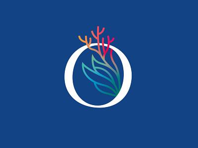 Oceans 2050 Branding initiative cousteau seaweed marine life design nature coral ocean brand icon logo branding