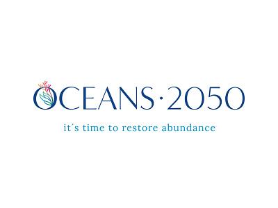 Oceans 2050 Branding initiative conservation coral vector custom type marine life ocean cousteau design logo brand branding