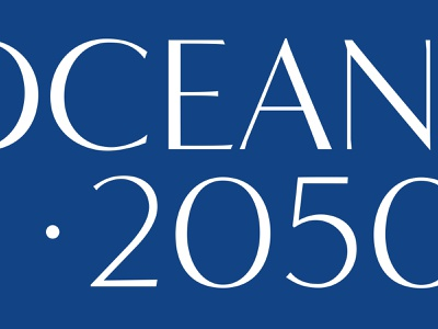 Oceans 2050 Branding initiative conservation typography custom type ocean cousteau logo brand branding