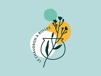 Le Chaudron à Bulles Branding savon artisanal illustration icon bretagne handmade soap organic soap design nature branding logo