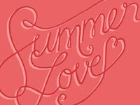 Summer Love Lettering