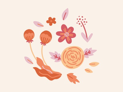 Summer Flowers Pattern fun abstract vector illustration blooms pattern botanical nature summer floral flowers