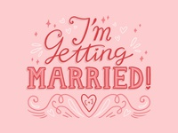 I'm Getting Married typography