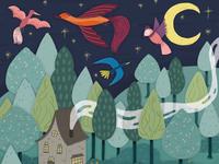 Folktale Week illustration - Forest