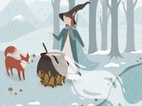 Folktale Week Illustration - Magic