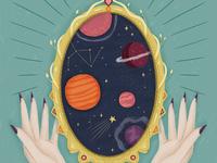 Folktale Week Illustration - Mirror