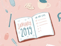 New Year To-do List Illustration